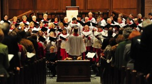 Bevan Keating conducts the Second Presbyterian Church Choir in 2013