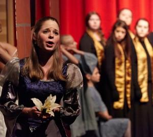 Elizabeth Riddick performs as Celeste in Carmina Burana