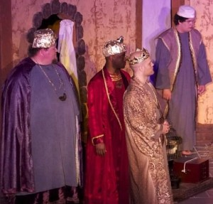 Matt Newman, Phillip Murray, Ferris Allen, and Luke Angelo in Amahl and the Night Visitors
