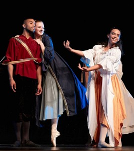 Anthony Bryant and Caroline Young dance as Richard and Celeste in Carmina Burana