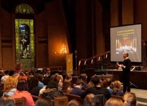 First Carmina Burana rehearsal at Second Presbyterian Church