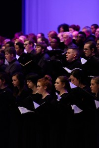 The combined choirs of Carmina Burana