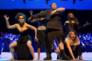 Kira Keating, Matthew Tatus, Satia Spencer, and Shea Williamson in Dido and Aeneas