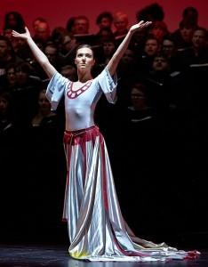 Rachel Powell as the goddess Fortuna