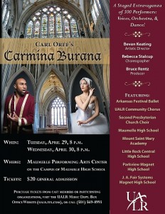 Poster for the 2014 production of Carmina Burana