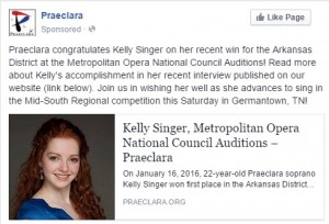 Kelly Singer Facebook post