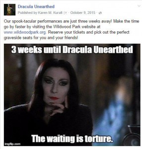 Morticia Addams meme for Dracula Unearthed