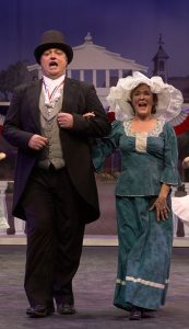 Matthew Tatus and Melissa Thoma as Mayor Shinn and Eulalie in The Music Man