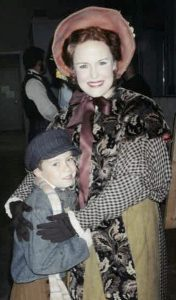 Melissa Thoma and her son, Sam, in La Boheme